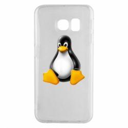 Чохол для Samsung S6 EDGE Пингвин Linux