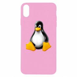 Чохол для iPhone Xs Max Пингвин Linux