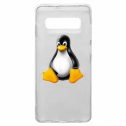 Чохол для Samsung S10+ Пингвин Linux