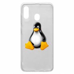 Чохол для Samsung A20 Пингвин Linux