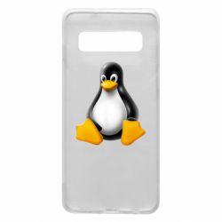 Чохол для Samsung S10 Пингвин Linux