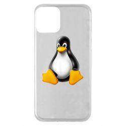 Чохол для iPhone 11 Пингвин Linux