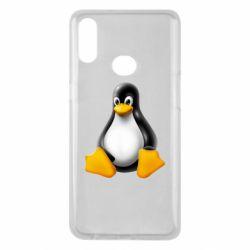 Чохол для Samsung A10s Пингвин Linux
