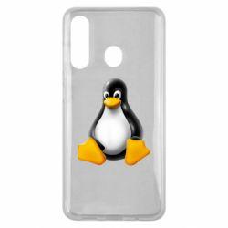 Чохол для Samsung M40 Пингвин Linux