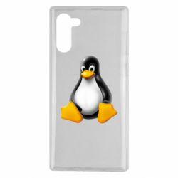 Чохол для Samsung Note 10 Пингвин Linux