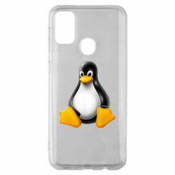 Чохол для Samsung M30s Пингвин Linux