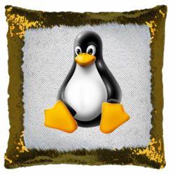 Подушка-хамелеон Пингвин Linux