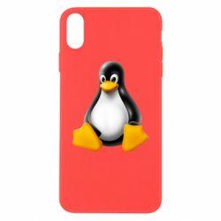 Чохол для iPhone X/Xs Пингвин Linux