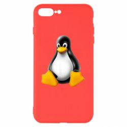 Чохол для iPhone 8 Plus Пингвин Linux