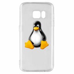 Чохол для Samsung S7 Пингвин Linux