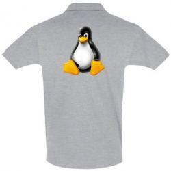 Футболка Поло Пингвин Linux