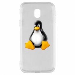Чохол для Samsung J3 2017 Пингвин Linux