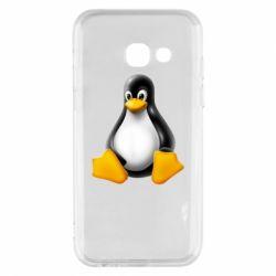 Чохол для Samsung A3 2017 Пингвин Linux