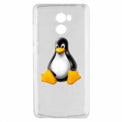 Чехол для Xiaomi Redmi 4 Пингвин Linux