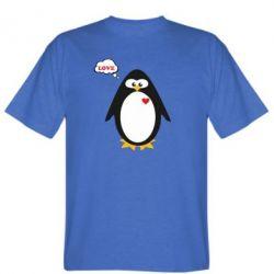 Мужская футболка Пингвин мальчик - FatLine