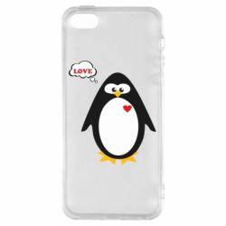 Купить Парные для влюбленных, Чехол для iPhone5/5S/SE Пингвин мальчик, FatLine
