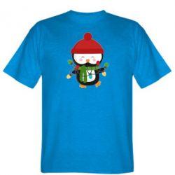 Мужская футболка Пингвин с гирляндой - FatLine