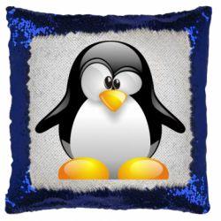 Подушка-хамелеон Пінгвін