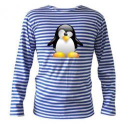 Тельняшка с длинным рукавом Пингвинчик - FatLine