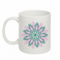 Кружка 320ml Pink and green pattern