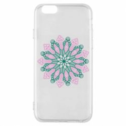 Чехол для iPhone 6/6S Pink and green pattern