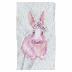 Рушник Pink bunny with flowers on her head