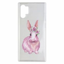 Чохол для Samsung Note 10 Plus Pink bunny with flowers on her head