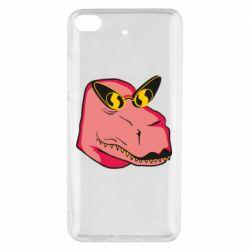 Чехол для Xiaomi Mi 5s Pink dinosaur with glasses head