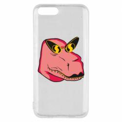 Чехол для Xiaomi Mi6 Pink dinosaur with glasses head