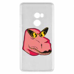 Чехол для Xiaomi Mi Mix 2 Pink dinosaur with glasses head