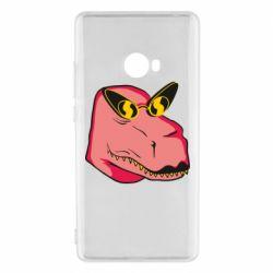 Чехол для Xiaomi Mi Note 2 Pink dinosaur with glasses head