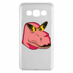 Чохол для Samsung A3 2015 Pink dinosaur with glasses head