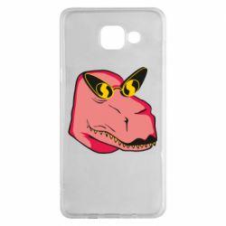 Чохол для Samsung A5 2016 Pink dinosaur with glasses head
