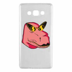 Чохол для Samsung A7 2015 Pink dinosaur with glasses head