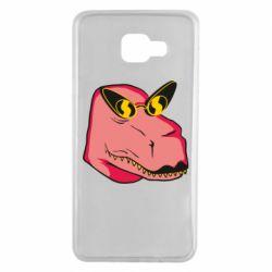 Чохол для Samsung A7 2016 Pink dinosaur with glasses head