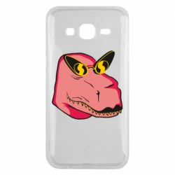 Чохол для Samsung J5 2015 Pink dinosaur with glasses head