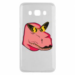 Чохол для Samsung J5 2016 Pink dinosaur with glasses head