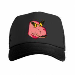 Кепка-тракер Pink dinosaur with glasses head