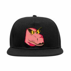 Снепбек Pink dinosaur with glasses head