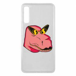 Чохол для Samsung A7 2018 Pink dinosaur with glasses head