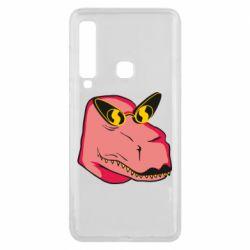 Чохол для Samsung A9 2018 Pink dinosaur with glasses head