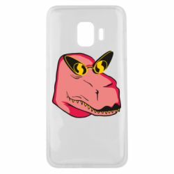 Чохол для Samsung J2 Core Pink dinosaur with glasses head