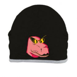 Шапка Pink dinosaur with glasses head