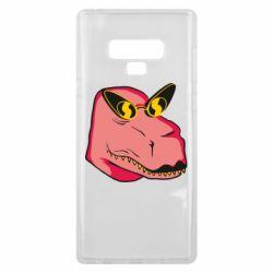 Чохол для Samsung Note 9 Pink dinosaur with glasses head