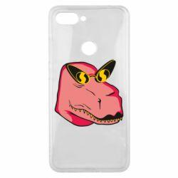 Чехол для Xiaomi Mi8 Lite Pink dinosaur with glasses head