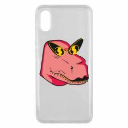 Чехол для Xiaomi Mi8 Pro Pink dinosaur with glasses head