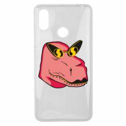 Чехол для Xiaomi Mi Max 3 Pink dinosaur with glasses head