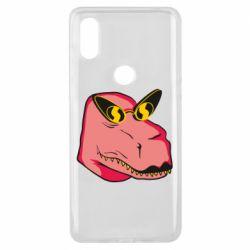 Чехол для Xiaomi Mi Mix 3 Pink dinosaur with glasses head
