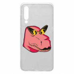 Чехол для Xiaomi Mi9 Pink dinosaur with glasses head