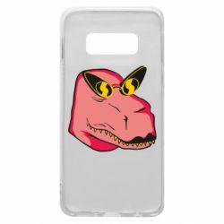 Чохол для Samsung S10e Pink dinosaur with glasses head